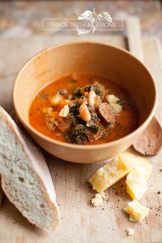 Kale, Kidney & Sauage Soup