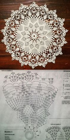 Terrific Photo Crochet Doilies chart Suggestions Although most of the doilies that you see in stores today are produced from paper or machine lace, y - potluck dishes Free Crochet Doily Patterns, Crochet Doily Diagram, Crochet Circles, Crochet Motif, Crochet Designs, Crochet Tablecloth Pattern, Crochet Coaster, Diy Crafts Crochet, Crochet Home