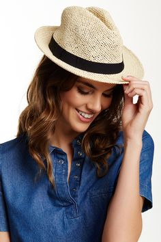 14th & Union | Banded Paper Fedora | Nordstrom Rack