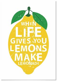 When life gives you lemons, make lemonade - motivational quote Poster ✓ Easy Installation ✓ 365 Days to Return ✓ Browse other patterns from this collection! Design Shop, Lemon Quotes, Alexs Lemonade, Lemon Party, Lemon Drink, Relief Society, Quote Posters, Typography Poster, Portraits