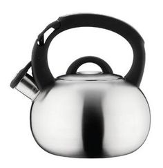 Grunwerg Cafe Ole Stove Top Whistling Kettle 3L Satin Stainless Steel HTK-378S  classic whistler, non-scratchy bottom, big capacity, cheap but stainless steel only