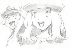 Ash- Serena! I Won!! by Pikafan09 on DeviantArt