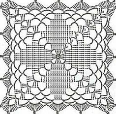 Mitered Granny Square Dishcloth and Tutorial from Oombawka Design Crochet freep… Crochet Square Patterns, Crochet Blocks, Crochet Diagram, Crochet Chart, Crochet Squares, Crochet Granny, Crochet Motif, Crochet Doilies, Crochet Lace