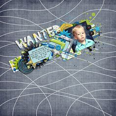 Digital Scrapbook Page by Melissa | Hey There Handsome by Bella Gypsy