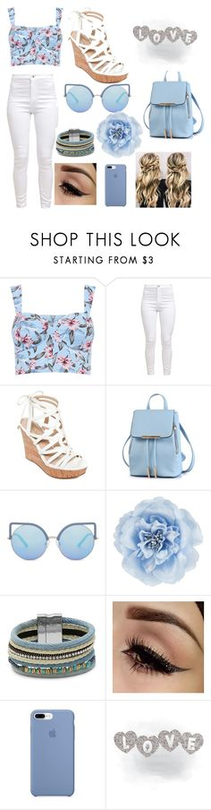 """love is in the air 💋💋💋💋❤❤❤❤❤"" by marinette-jacobo ❤ liked on Polyvore featuring beauty, GUESS, Matthew Williamson, Monsoon and Design Lab"