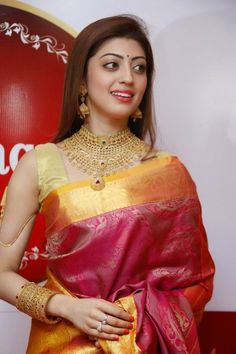 Pranitha Latest Photos in Saree at Saubhagya Utsav 2013 Event ★ Desipixer  ★