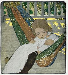 Rocking Baby Doll to Sleep, 1902 - Jessie Wilcox-Smith