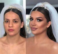 Amazing Wedding Makeup Tips – Makeup Design Ideas Day Makeup, Bride Makeup, Makeup Box, Bridal Beauty, Bridal Hair, Becoming A Makeup Artist, Party Make-up, Makeup Before And After, Wedding Makeup Tips