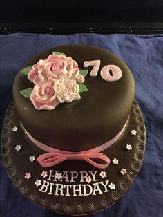 Gluten free classic rose chocolate birthday cake