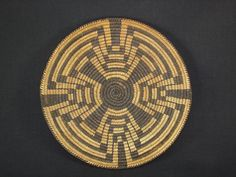 Pima Miniature Tray with tight weave, Native American Indian basket, circa: 1915  - wonderful example of an antique basket/tray