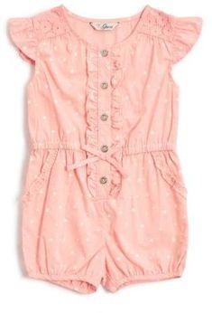 667fc4c53a360 GUESS Baby Girl s Factory Scarlett Star Romper (0-24M)  babygirl