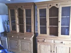 Pine dresser/display cabinets, wide, deep and high. Price is for a single dresser Annie Sloan Chalk Paint Dresser, Pine Dresser, China Cabinet, Storage, Furniture, Home Decor, Purse Storage, Decoration Home, Chinese Cabinet