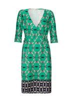 CopyKate's Green prints: Dragonfly print wrap dress