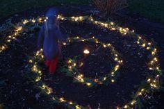 Winter Solstice Spiral of Lights.