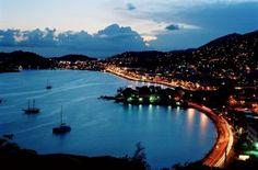 St. Thomas Virgin Islands. (This was my view on certain nights with him)