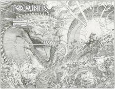 LOVE SEEING PENCILS--> Walter Simonson'sRagnarök 'Nuff Said! #ComicArt #ComicBooks #Thor
