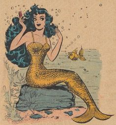 Mermaid Illustration by Gravity Graph