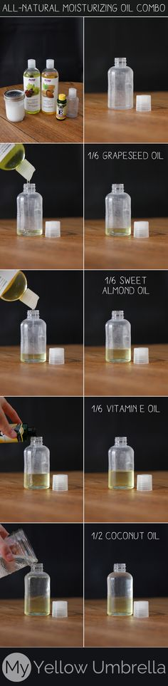 ALL-NATURAL MOISTURIZING OIL COMBO: Today, I'm sharing my favorite power-oil combination! I keep each of these oils on hand for their various uses, and at one point, decided to combine them and their super properties. I apply it right out of the shower after lightly toweling off to lock in the most moisture, but it's great for use throughout the day as well.
