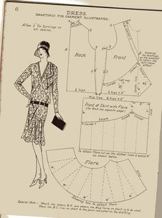 The Haslam System of Dresscutting 1929 - Book of Draftings No 5 .. All the pages have been scanned & it's an absolute treat!