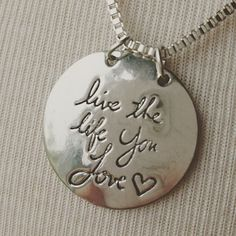 Necklace {Learn from yesterday, live for today, hope for tomorrow|REVERSIBLE|Live the life you love} $5