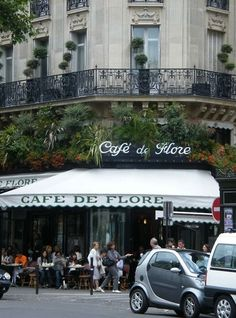 Café de Flore, 172 Boulevard Saint-Germain, Paris 6e.