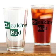 $12.95 16 oz. Breaking Bad Logo Drinking Glass on CafePress.com