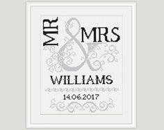 Wedding Cross Stitch Pattern Scheme for by PatternsTemplates