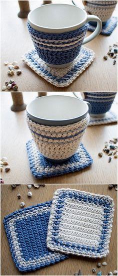 diy Cute Crochet Mug Cover Design