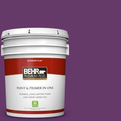 BEHR Premium Plus 5 gal. #P100-7 Sultana Zero VOC Flat Interior Paint