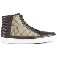 bc9747a2560 Gucci GG Supreme high-top sneaker ( 580) ❤ liked on Polyvore featuring men s