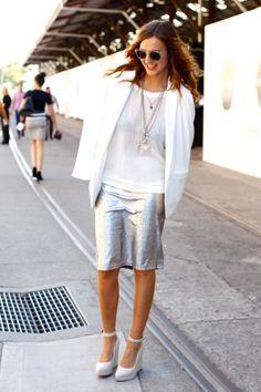 metallic skirt forever | STYLE IN LIMA
