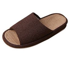 Men's Slippers - Bronze Times TM Unisex Cozy Tatami Indoor Cotton Flax House Slippers *** Check out this great product. (This is an Amazon affiliate link)