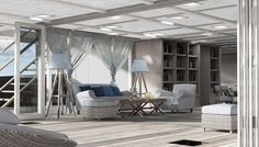 Pastrovich Studio's 262-foot X-Prime yacht concept  - Inspired by tropical homes, Pastrovich's latest design blurs boundaries to make the living easy. Yacht Design, Super Yachts, Tropical Houses, Outdoor Furniture Sets, Outdoor Decor, Friends Family, Dining Table, Concept, Fine Art