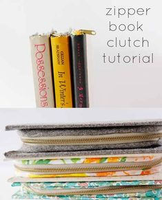 Zipper Book Clutch -