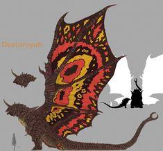 Godzilla Vs Gigan, Godzilla Suit, Godzilla Franchise, Types Of Dragons, All Godzilla Monsters, Japanese Monster, Alien Concept Art, Monster Art, King Kong