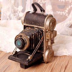 Retro Style Resin Camera Model Cafe Decor Old Camera Model