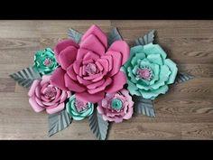 Kağıttan Dev Çiçek Yapımı / Giant Paper Flower DIY - YouTube