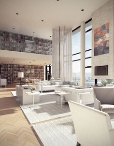 """Living space """"Look at the bookshelves!'"""
