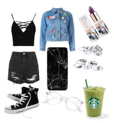 """Untitled #40"" by ssimuhina on Polyvore featuring Boohoo, Marc Jacobs, Topshop, Converse and Teeez"