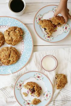Healthy Peanut Butter Oat Scones with a surprise jam center. Perfect back-to-school breakfast or afternoon snack.