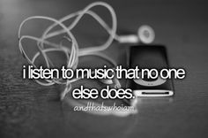 I Listen To Music That No One Else Does