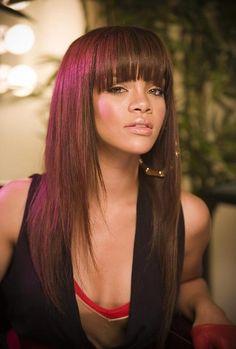 More Hot Hairstyles for Spring & Summer: Messy & Edgy bangs like Rihanna