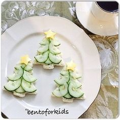 Cream cheese and cucumber sandwiches Cream cheese and cucumber sandwiches - . - Cream cheese and cucumber sandwiches Cream cheese and cucumber sandwiches – # Crea - Christmas Tea Party, Christmas Snacks, Xmas Food, Christmas Appetizers, Christmas Cooking, Christmas Sandwiches, Christmas Trees, Christmas Tree Food, Holiday Parties