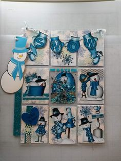 winter pocket letter by yvonne cunningham Scrapbook Paper Flowers, Christmas Paper Crafts, Christmas Decor, Pocket Craft, Pocket Pal, Art Trading Cards, Cute Envelopes, Flip Books, Artist Card