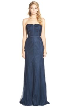 Monique Lhuillier Bridesmaids Strapless Lace