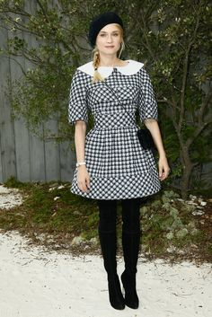 Diane Kruger at the Chanel Spring 2013 Couture show in Paris.