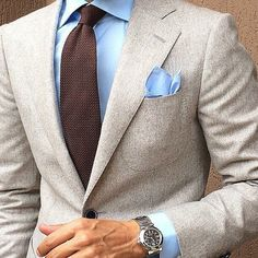 Photo shared by Daniele Zaccone on October 2014 tagging Sharp Dressed Man, Well Dressed Men, Mens Fashion Suits, Mens Suits, Suit Combinations, Moda Formal, Brown Suits, Brown Tie, Style Masculin