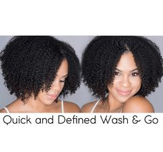 Quick and Defined Wash n Go on Natural Hair [Video] - Black Hair Information How To Grow Natural Hair, Grow Long Hair, Natural Hair Care, Grow Hair, Natural Hair Styles, Short Hairstyles For Thick Hair, Girls Natural Hairstyles, Cool Hairstyles, African Hairstyles
