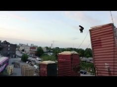 Rube Goldberg Machine Freerunning, This amazingly cool human powered Rube Goldberg machine is filled with insane obstacles, chain reactions, stunts and excitement. Getting from point A to point B never looked so difficult and awesome. Parkour, Rube Goldberg Machine, Running Machines, Cinema Camera, Animation, Gif Of The Day, Experiential, Extreme Sports, Stunts