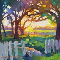 Louisiana Edgewood Art Paintings by Louisiana artist Karen Mathison Schmidt: Alla prima warm-up